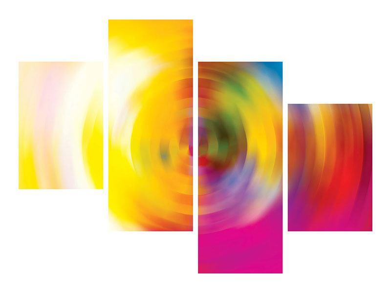 Aluminiumbild 4-teilig modern Abstrakte Farbkreise