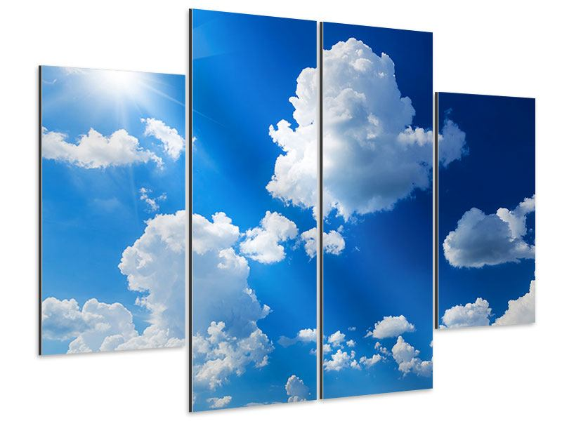 Aluminiumbild 4-teilig Himmelblau