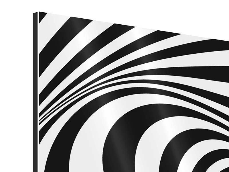 Aluminiumbild 4-teilig Abstrakte Wandbewegung