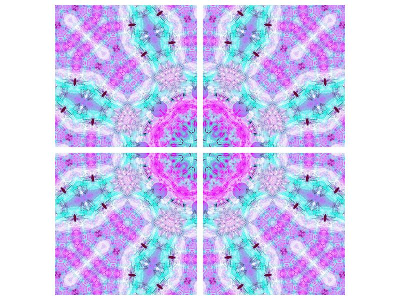 Aluminiumbild 4-teilig Lilac