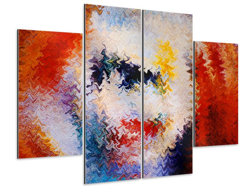 4 Piece Aluminium Print Wall Painting