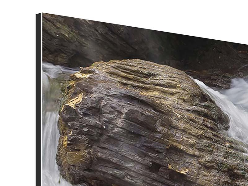 Aluminiumbild 4-teilig Wasserfall XXL