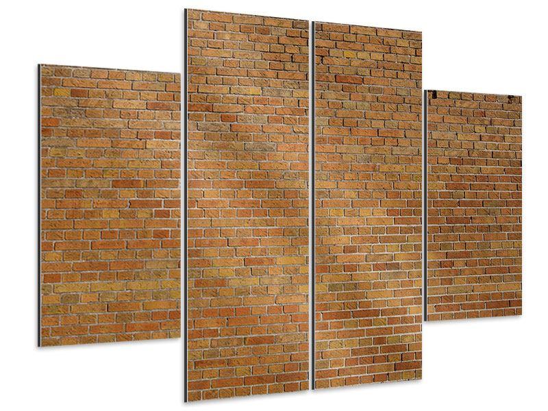 Aluminiumbild 4-teilig Backsteinhintergrund