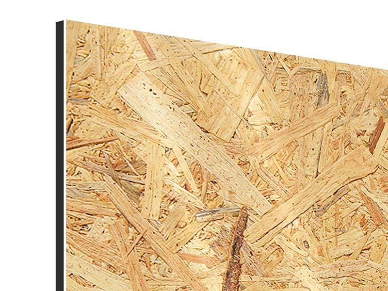 Aluminiumbild 4-teilig Gepresstes Holz