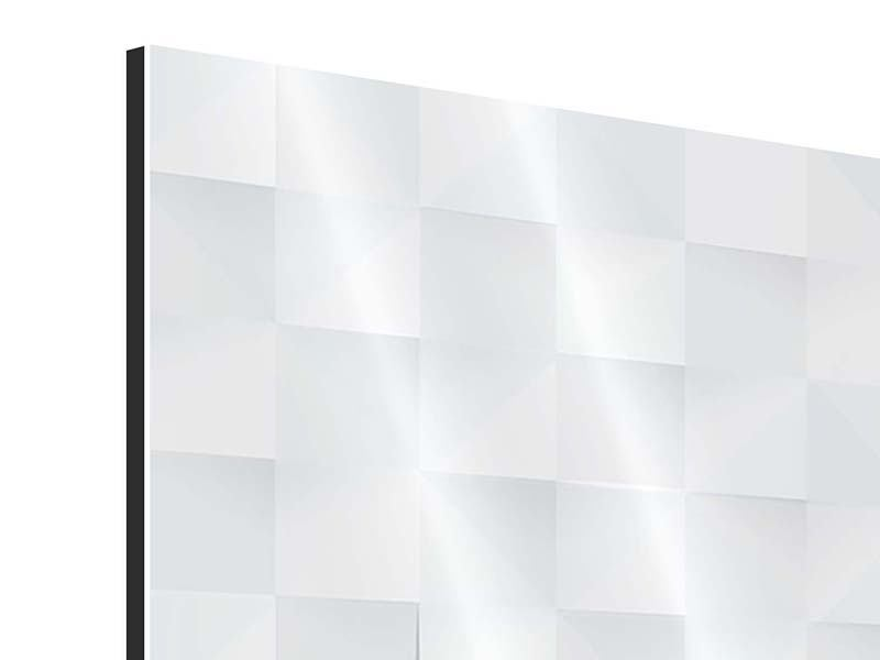 Aluminiumbild 4-teilig 3D-Schachbrett