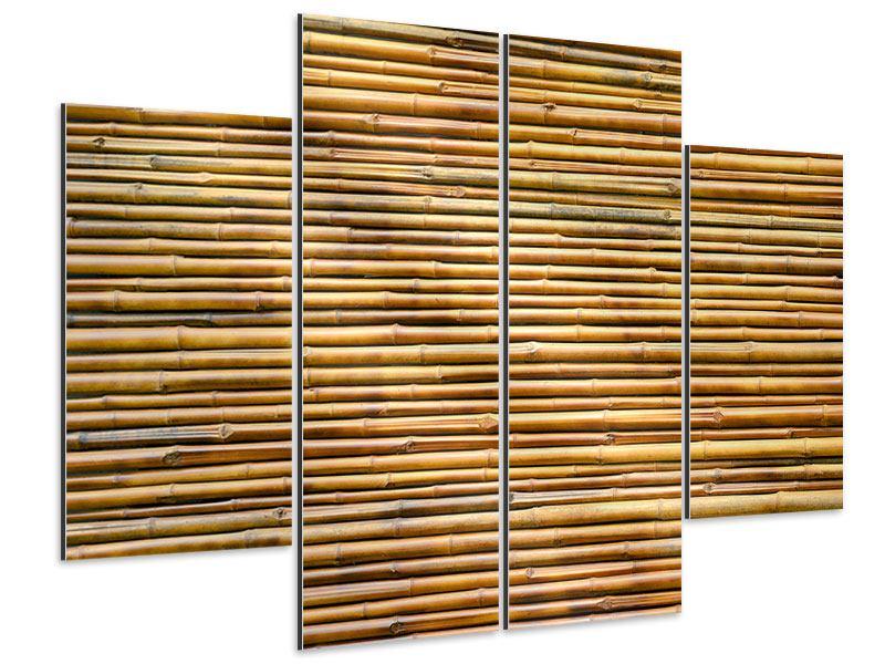 Aluminiumbild 4-teilig Bambus