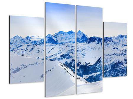 Aluminiumbild 4-teilig Die Schweizer Alpen