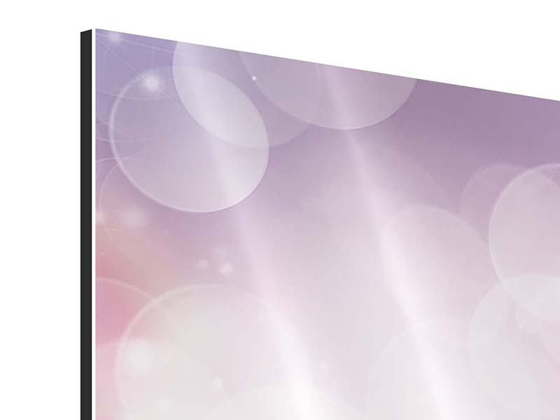 Aluminiumbild 4-teilig Märchenrosen