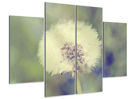 Aluminiumbild 4-teilig Die Pusteblume