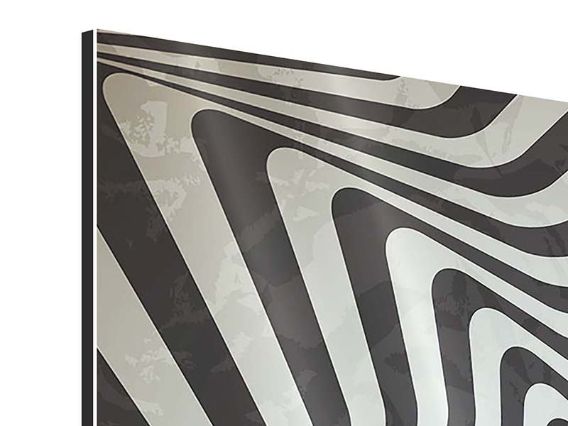 Aluminiumbild 4-teilig Abstrakte Bewegungen