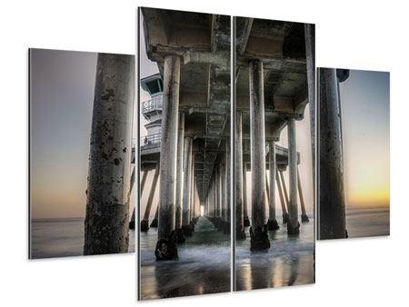 Aluminiumbild 4-teilig Brückenpfeiler