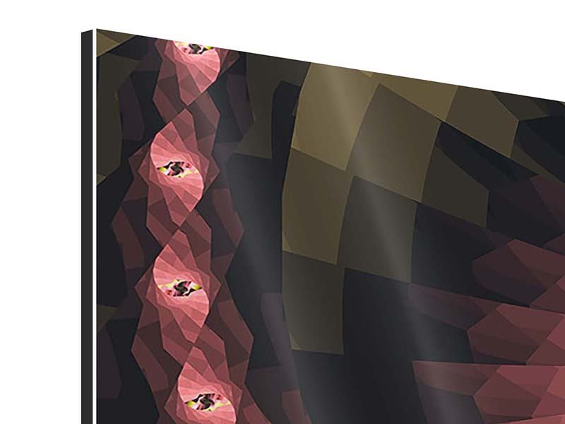 Aluminiumbild 4-teilig Abstrakte Windungen