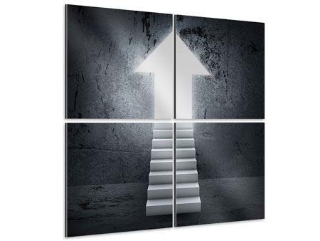 Aluminiumbild 4-teilig Der Aufstieg