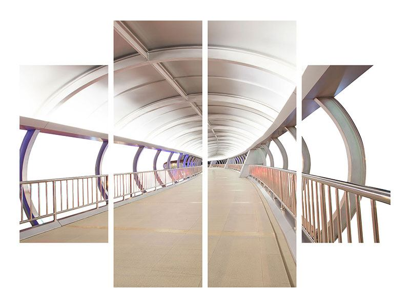 Aluminiumbild 4-teilig Brückenfeeling