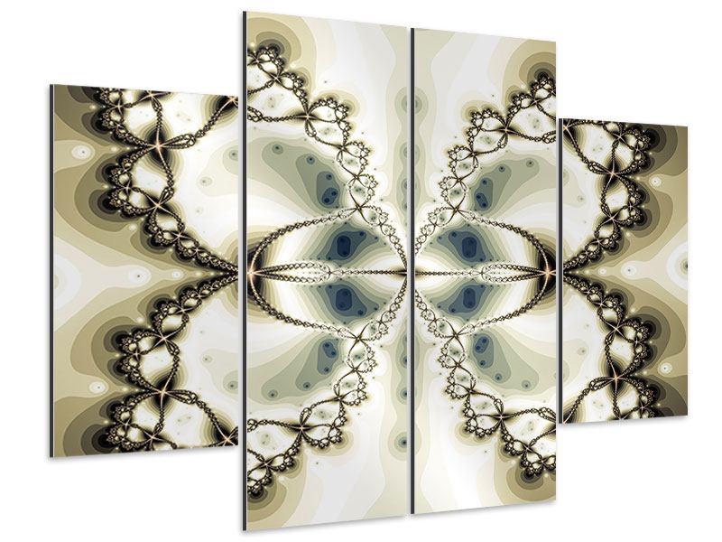 Aluminiumbild 4-teilig Abstrakter Schmetterling
