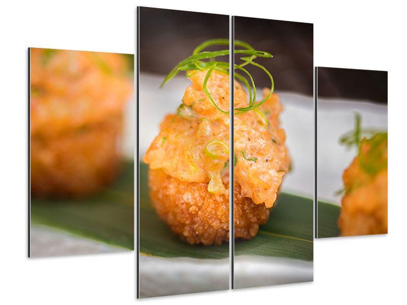 Aluminiumbild 4-teilig Asiatische Küche