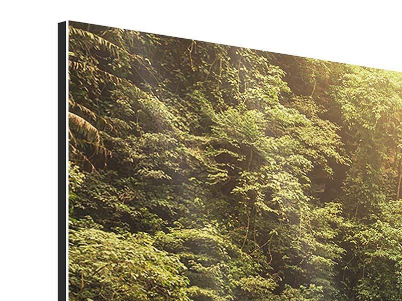 Aluminiumbild 4-teilig Wasserfall Bali