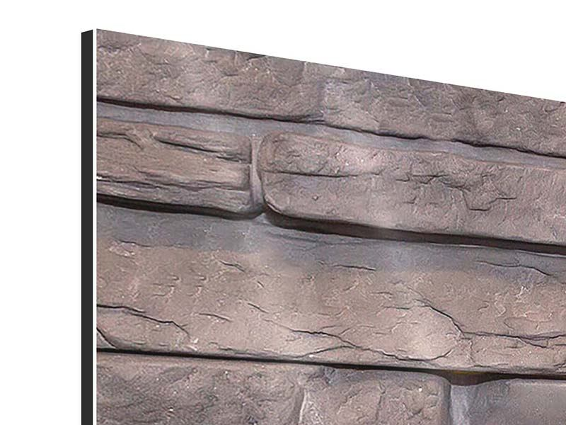 Aluminiumbild 4-teilig Luxusmauer