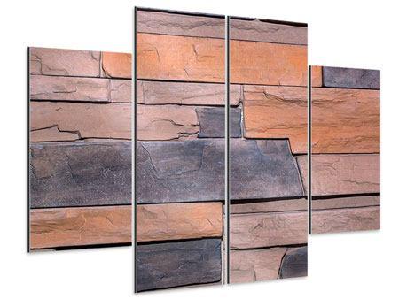 Aluminiumbild 4-teilig Wall