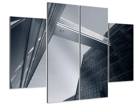 Aluminiumbild 4-teilig Der schwarze Diamant Kopenhagens