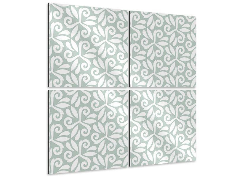 Aluminiumbild 4-teilig Renaissancemuster