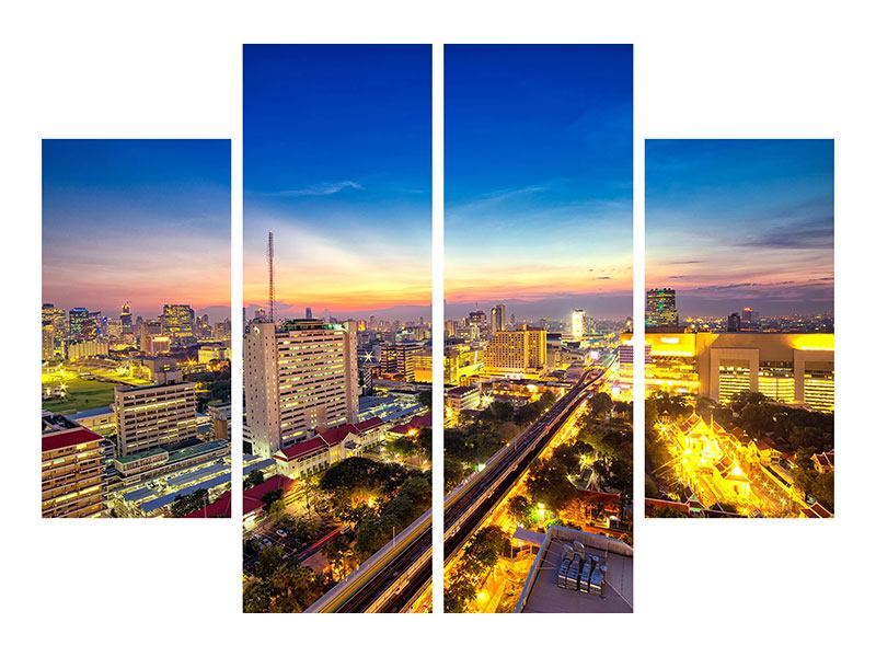 Aluminiumbild 4-teilig Bangkok