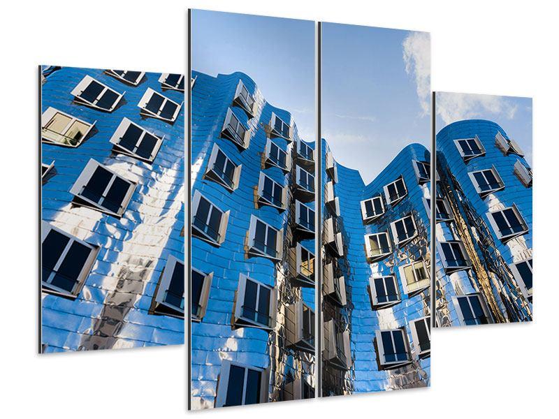 Aluminiumbild 4-teilig Neuer Zollhof