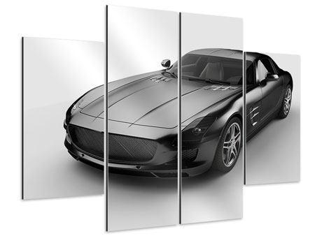 Aluminiumbild 4-teilig 007 Auto