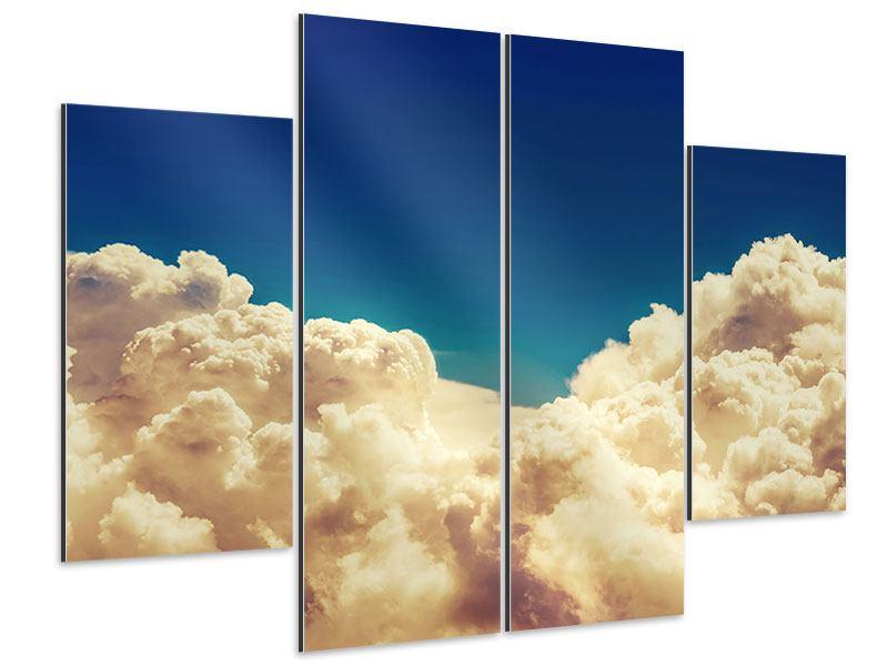 Aluminiumbild 4-teilig Himmelswolken
