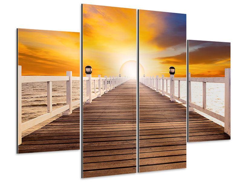 Aluminiumbild 4-teilig Die Brücke Ins Glück