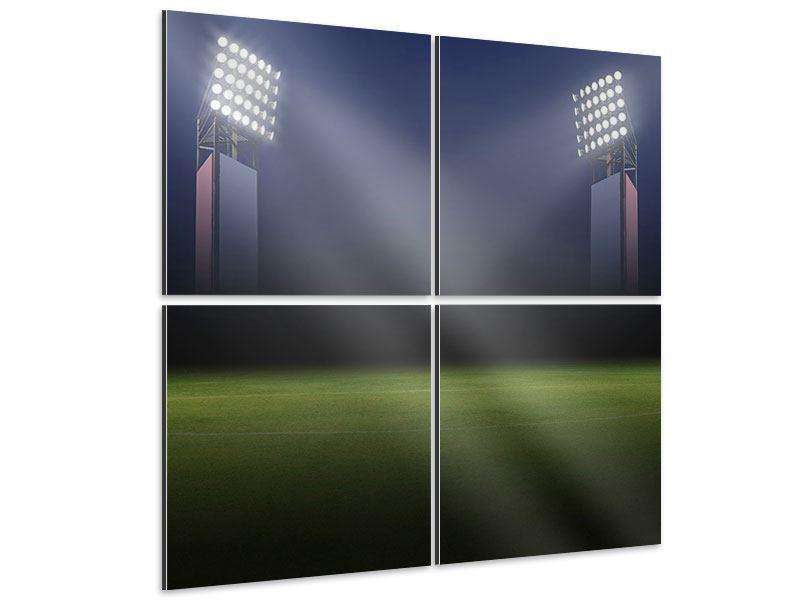 Aluminiumbild 4-teilig Fussballstadion
