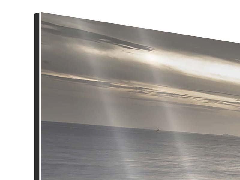 Aluminiumbild 4-teilig Das Meer und die Träne