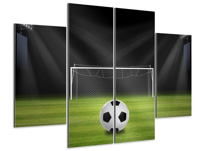Aluminiumbild 4-teilig Fussball-Tor
