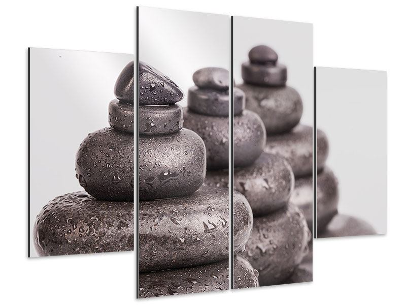 Aluminiumbild 4-teilig Die Kraft der Steine