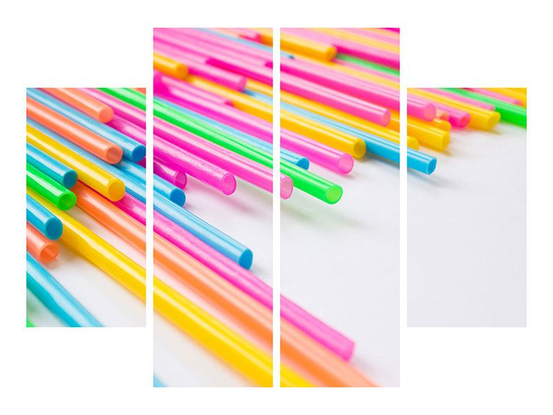 Aluminiumbild 4-teilig Pop Art