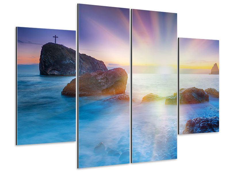 Aluminiumbild 4-teilig Mystisches Meer