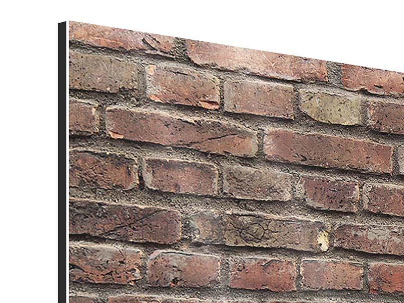 Aluminiumbild 4-teilig Brick Wall
