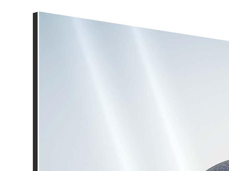 Aluminiumbild 4-teilig Steinbalance