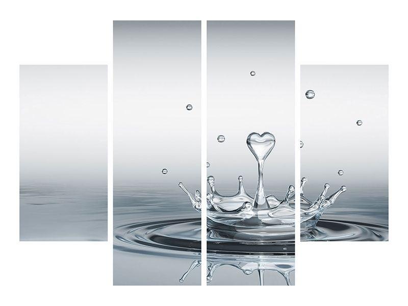 Aluminiumbild 4-teilig Wasserfigur