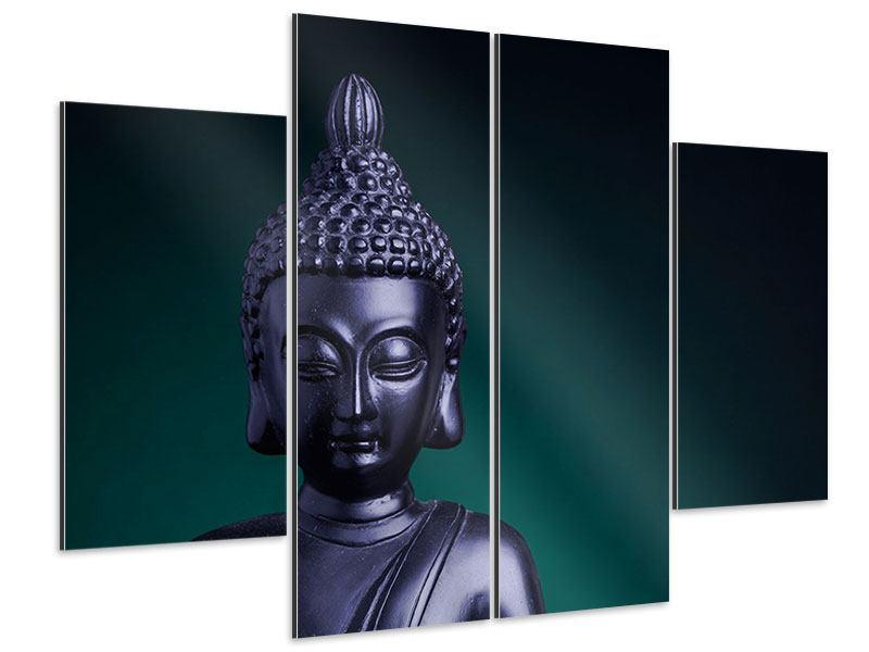 Aluminiumbild 4-teilig Die Weisheit des Buddhas