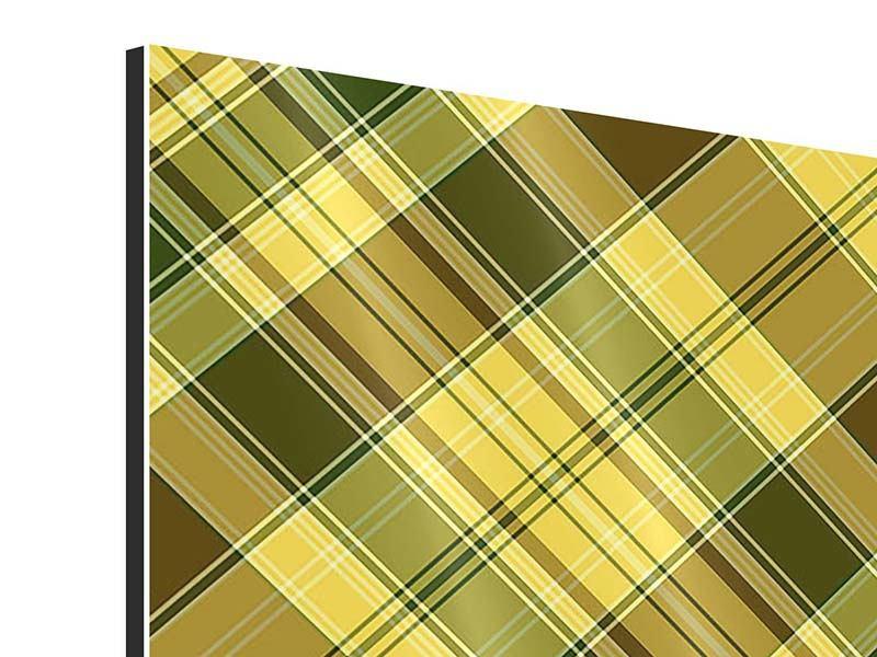 Aluminiumbild 4-teilig Karos im Retrodesign