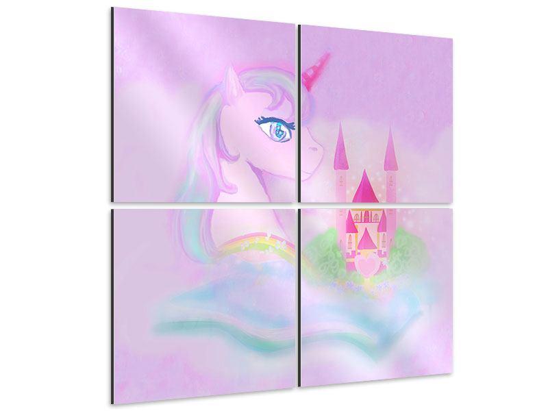Aluminiumbild 4-teilig Märchenschloss