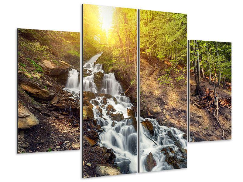Aluminiumbild 4-teilig Naturschönheit