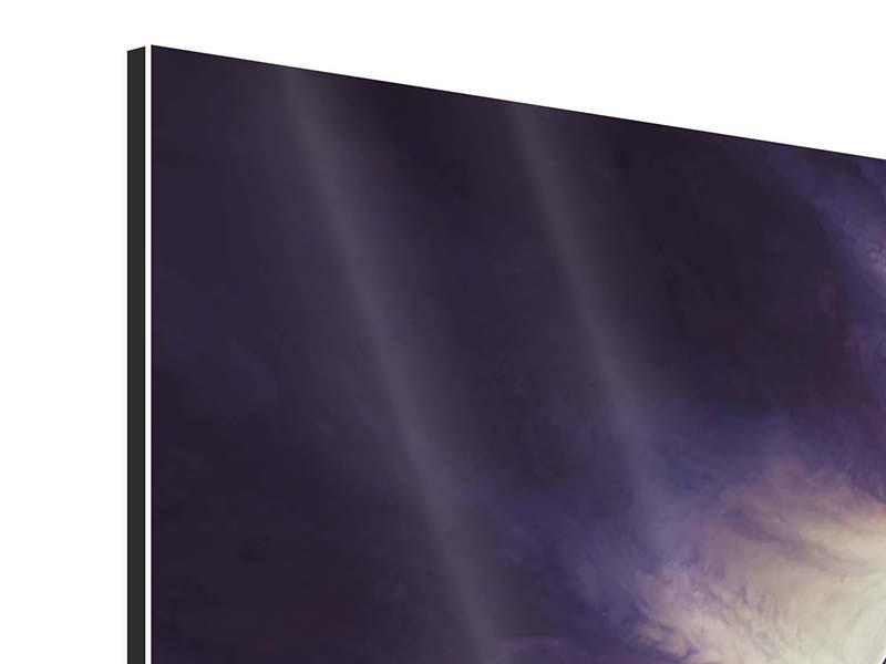 Aluminiumbild 4-teilig Weltraumreise