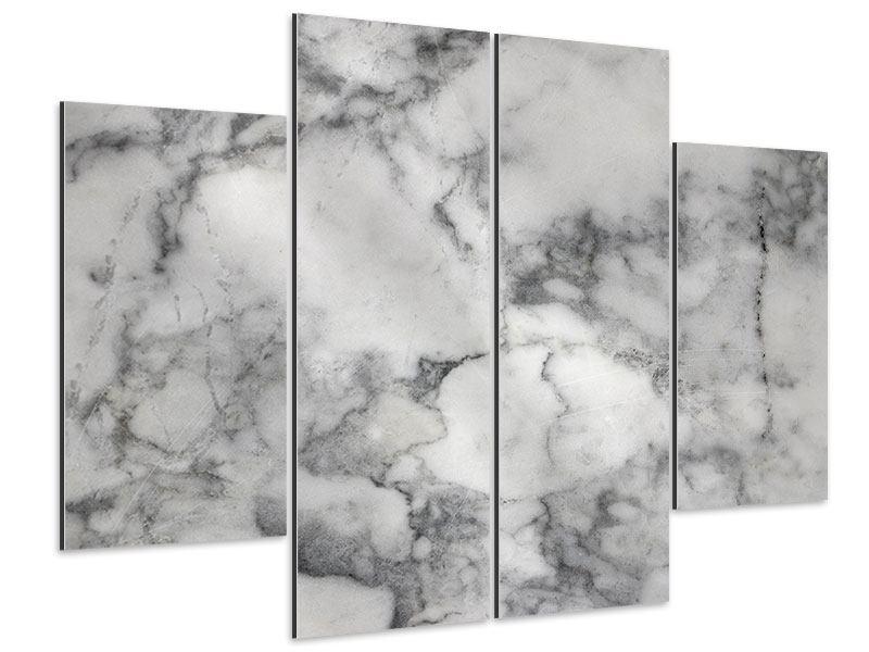 Aluminiumbild 4-teilig Klassischer Marmor