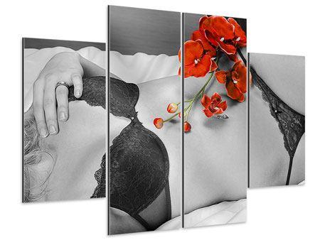 Aluminiumbild 4-teilig Dessous-Schönheit