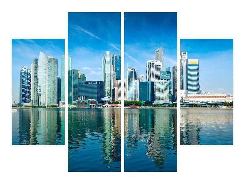 Aluminiumbild 4-teilig Skyline Mexiko-Stadt