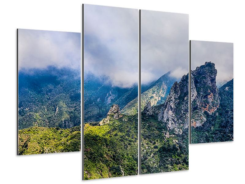 Aluminiumbild 4-teilig Der stille Berg
