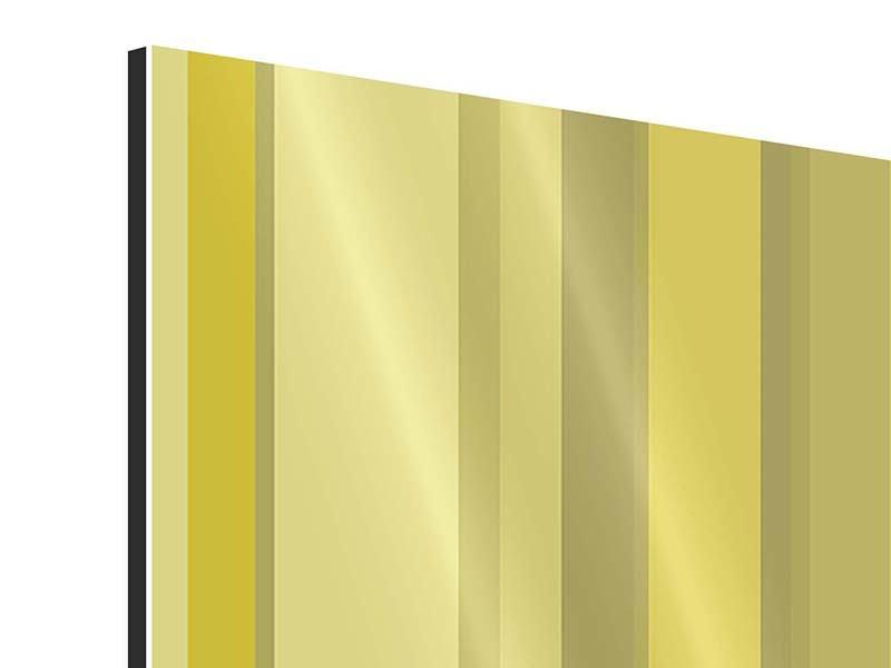Aluminiumbild 4-teilig Streifen