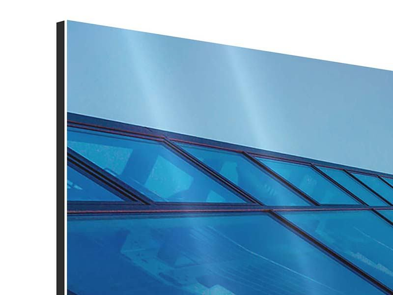 Aluminiumbild 4-teilig Wolkenkratzer-Highlight